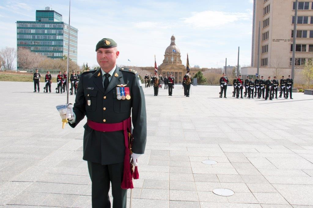 Jonathan McCully, Lieutenant-Colonel and Commanding Officer of the Loyal Edmonton Regiment